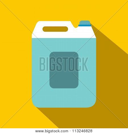 Plastic canister flat icon with shadow