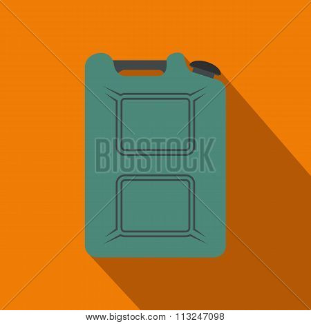 Metal canister flat icon with shadow