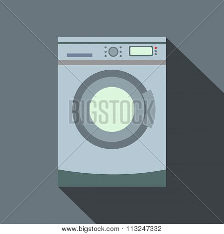 Washer flat icon with shadow