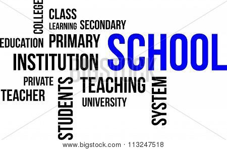 Word Cloud - School