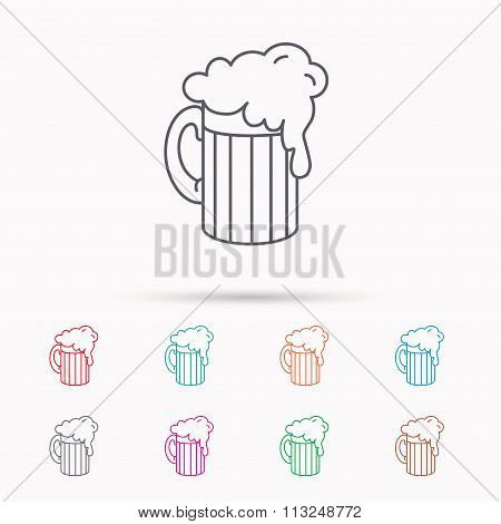 Beer icon. Glass of alcohol drink sign.