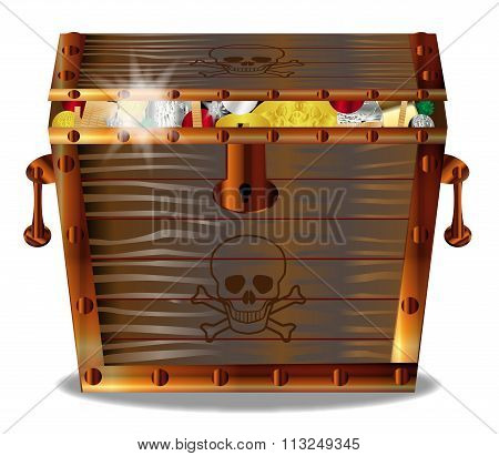Full Pirates Treasure Chest