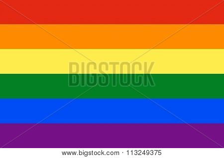 Rainbow Flag Illustration Of Gay And Lesbian