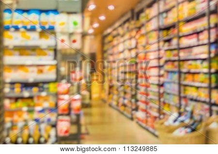 Blurred Image Of Supermarket