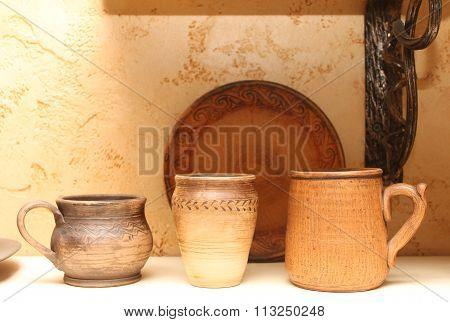 Traditional Ukrainian pottery.