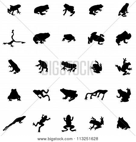Frog Silhouettes Set