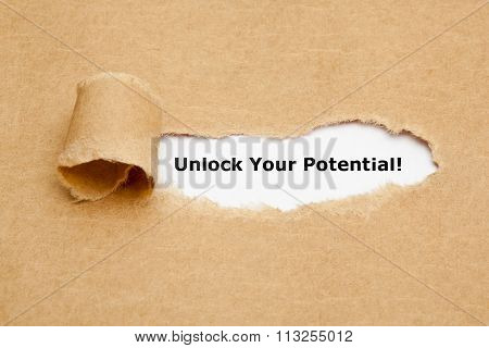 Unlock Your Potential Torn Paper