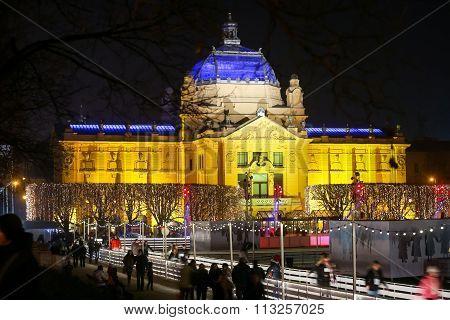 Art Pavilion At Advent In Zagreb
