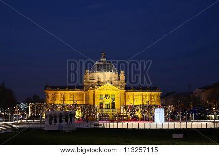 Art Pavilion At Night