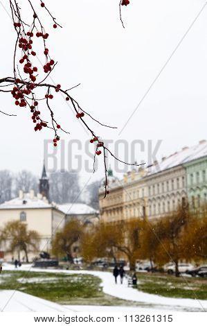 Heavy Snowfall In Prague.