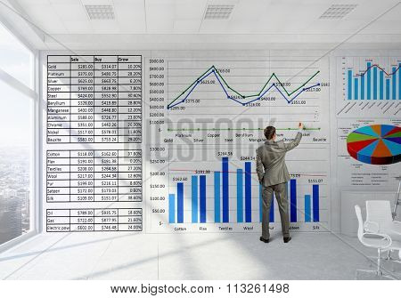 Businessman in top level office