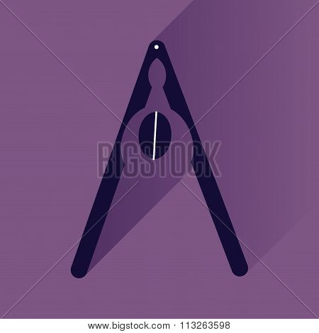 flat icon with long shadow nut and nutcracker
