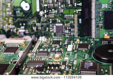 Integrated Circuit Board Of A Hard Disk