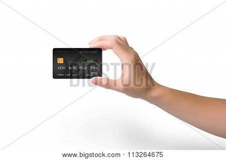 Isolated Black Credit Card