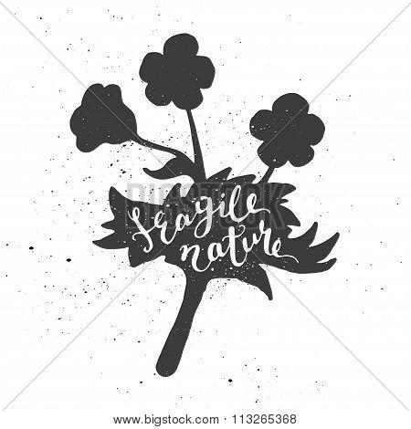 Flower lettering poster