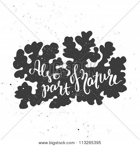 Lichen lettering poster