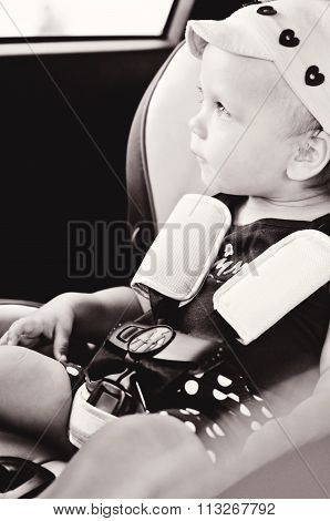 Baby In A Safety Car Seat