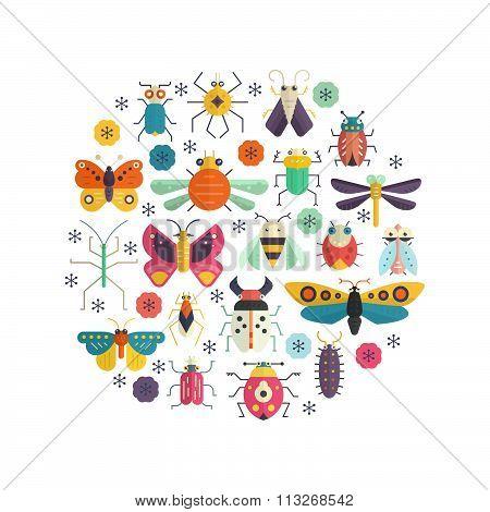 Bugs In Circle