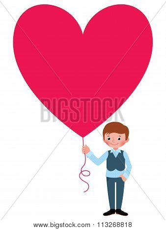 Young Man Gives A Valentine A Heart
