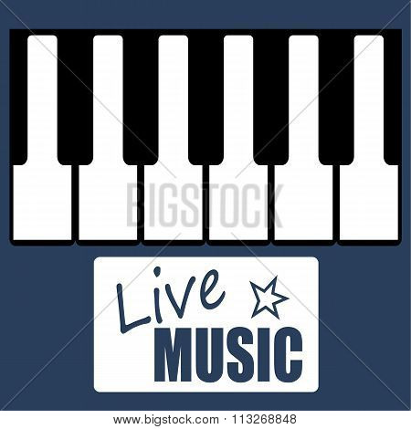 Live Music Piano Poster