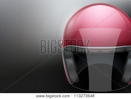 Red Motorcycle helmet