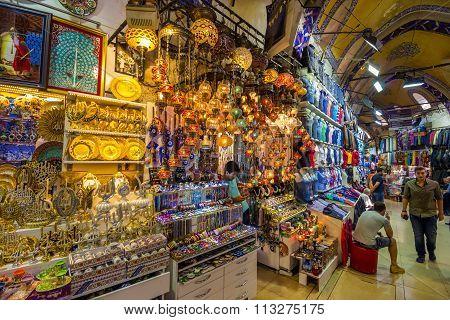 Street Of The Grand Bazaar In Istanbul