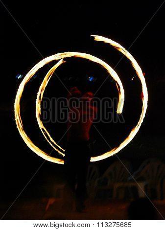 Fire Dance - Firestarter performing amazing fire show