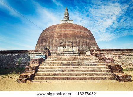 Rankoth Vehera in the world heritage city Polonnaruwa, Sri Lanka.