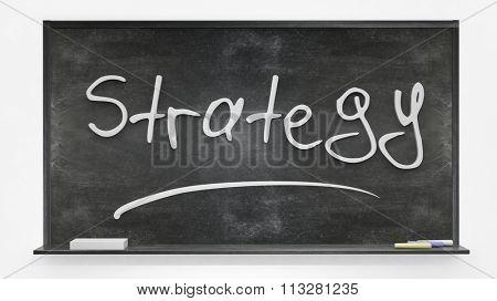 'Strategy' written on blackboard