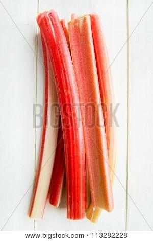 Pieces Of Cut Rhubarb