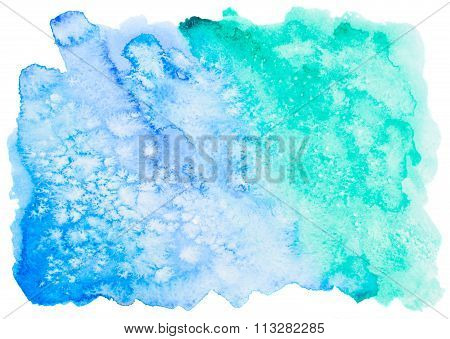 colorful blue watercolor