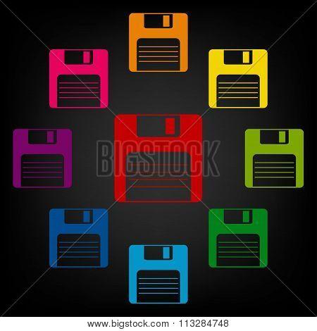 floppy disk  Vector icon