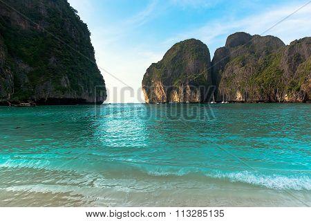 beautiful rocks in the sea