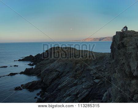 Watching The Sunset, Cap Ras, Colera, Costa Brava, Spain