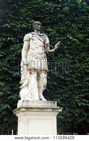 Statue in Tuileries garden in Paris,France.