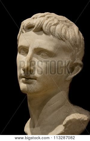 Bust Of The Roman Emperor Augustus at Istanbul Archeology Museum, Turkey