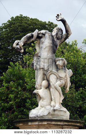 statue in Tuileries garden,Paris,France