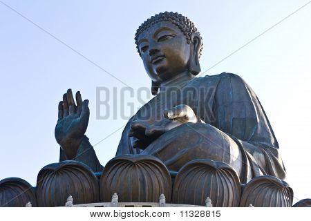 Big Buddha at Po Lin Monastery in Hong Kong