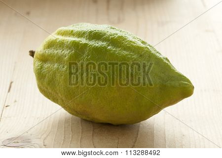 Fresh green Citrus medica