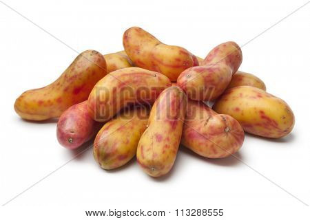 Fresh Ollucos de peru on white background