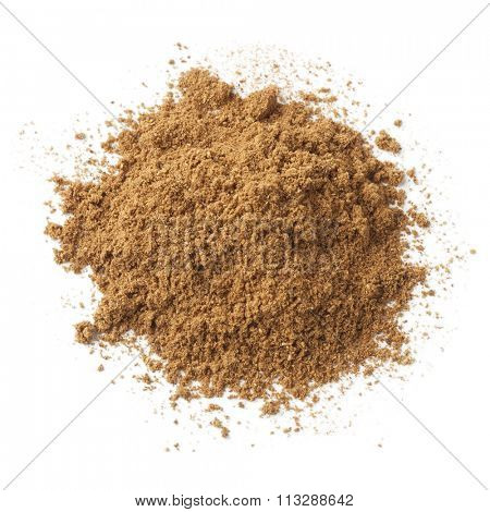 Heap of ground five-spice powder