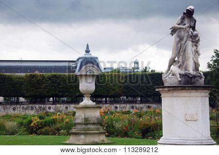 art in Tuileries garden in Paris,France.