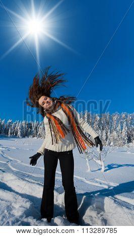 Happy Portrait Midwinter Sunshine