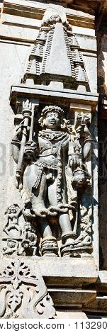 Sculpture depicting Lord Bhairava at Chennakesava temple at Belur captured on December 30th, 2015