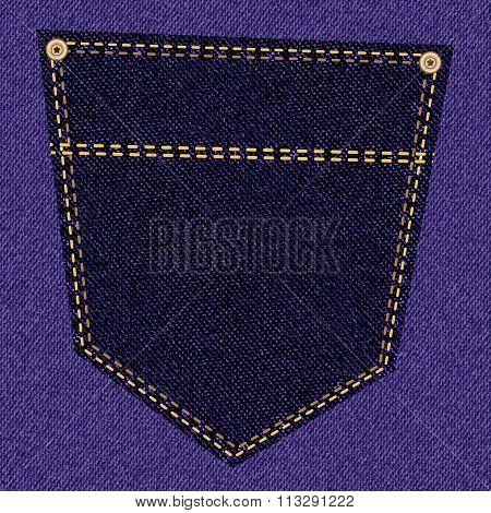 Purple jeans pocket