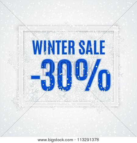 winter sale vector banner