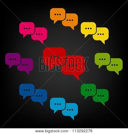 Speech bubles icon set