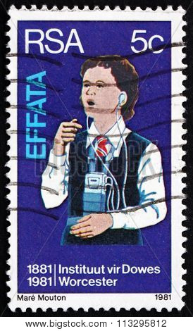 Postage Stamp South Africa 1981 Deaf Girl Learning To Speak