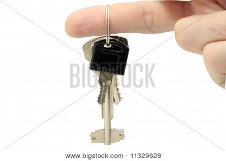 key on a  fingers