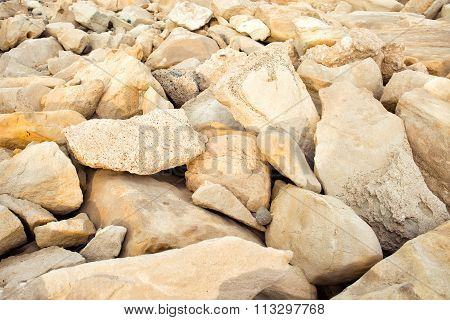 Pastel Stones On The Beach